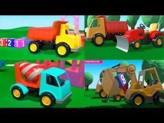 Мультфильмы про рабочие машины все серии в меню. На Детской Площадке