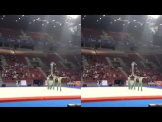 Acrobatics competition in Bulgaria-French team