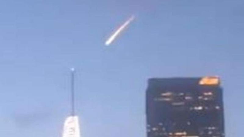 Падение объекта похожего на метеорит над Лос Анджелесом 20 марта 2019 года