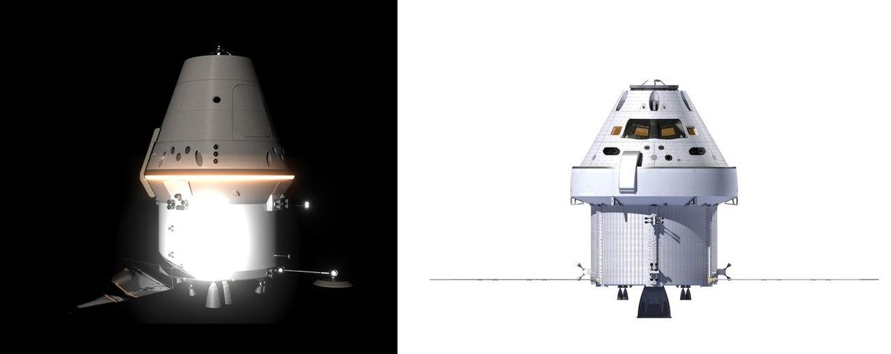 ПТК НП (РКК Энергия) и Орион (LM)