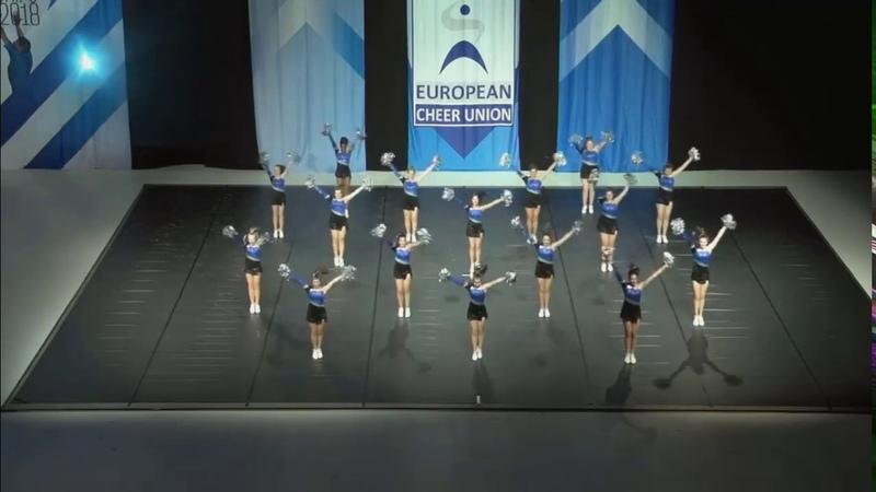 Cheerleading . Senior Pom Belgium Danshuis Energy Explosion.