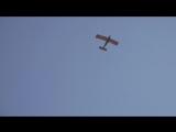 полёт Самолета Як-12М с флагом Белгорода