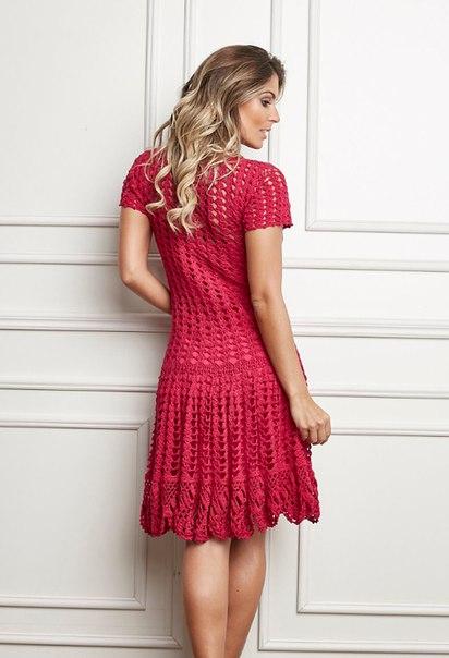 Ажурное платье крючком (7 фото) - картинка