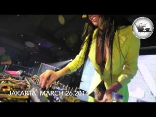 TDJ Milana show in V2 lounge Jakarta, Indonesia march 26 2014