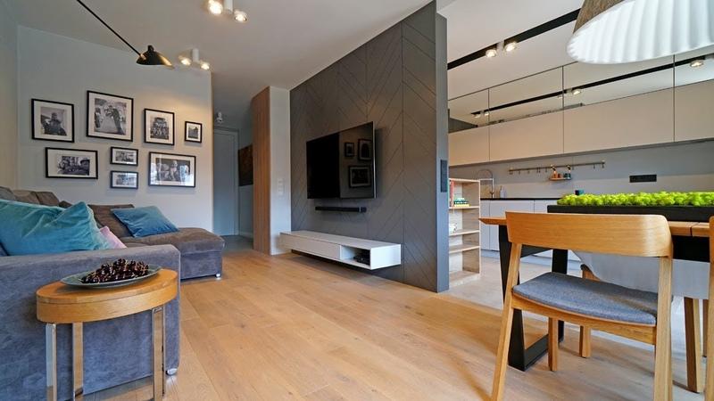 Jak urządzić małe mieszkanie Salon z kuchnią, przytulna sypialnia i pokój dla chłopca!