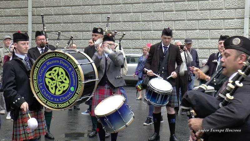 Кельтский оркестр волынок и барабанов на фестивале цветов в Санкт Петербурге Тамара Павлова