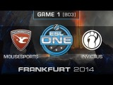 mousesports vs. Invictus Gaming - Quarterfinals Map 1 - ESL One Frankfurt 2014 - Dota 2