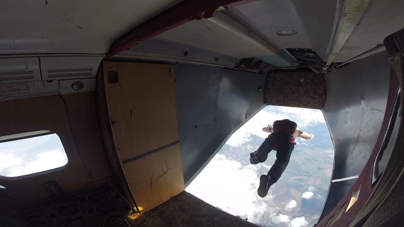 AFF 7 й уровень Контрольный прыжок с парашютом в Ярославле высота 4000 метров