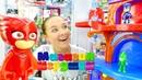 Видео для детей Магазин игрушек База для Героев в масках