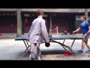Пинг понг с буддистским монахом