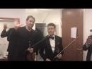 Julian Rachlin - Spontaneous backstage improvisation 😜 had.