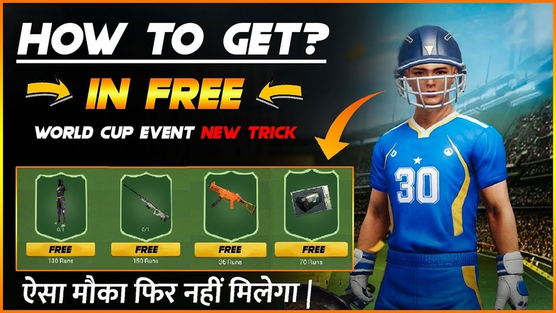 PUBG Mobile World Cup Event Free AWM skin UMP9 Skin free Outfit and free PUBG Crate Coupon Trick