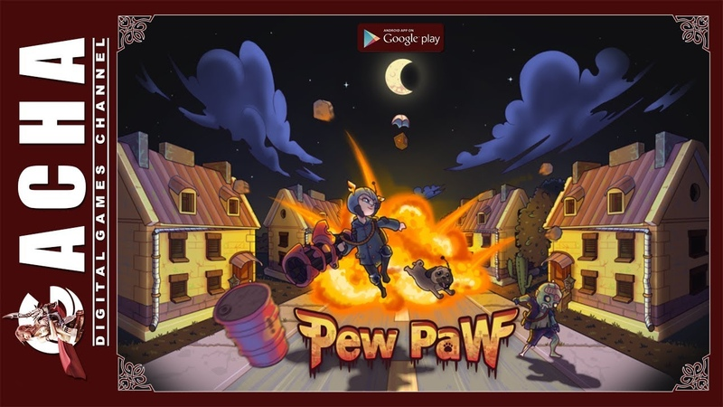 Pew Paw - Zombie survival 🇺🇸 EN 📱 Android 🎮 Gameplay