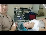 Ультразвуковой пилинг, маска и парафинотерапия для победительницы конкурса репостов
