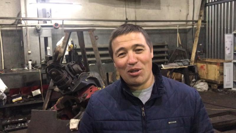 Айдар из Татарстана (г. Арск) рассказывает про работу манипулятора ВЕЛМАШ VM10L74. Отгружаем СФ-132Н