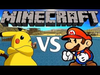 Minecraft - Pikachu VS Mario