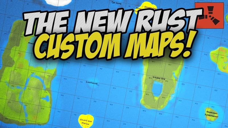 PLAYING on a CUSTOM MAP SERVER! - Rust Solo Survival Gameplay