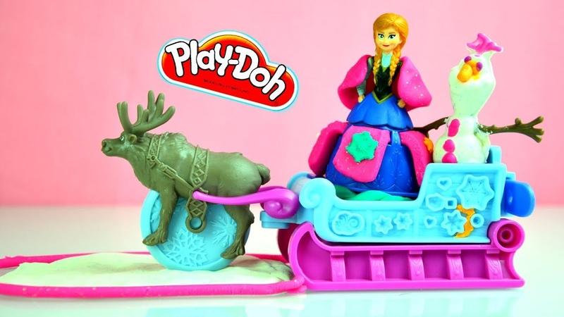 Play-Doh Дисней набор Холодное Сердце снежное приключение с принцессой Хасбро - Анной