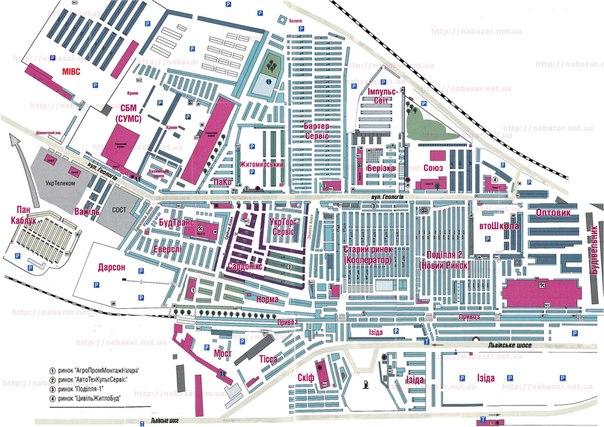 карта рынка хмельницкий карта