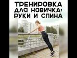 Тренировка для новичка: руки и спина