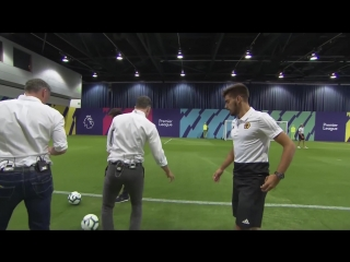 Carragher and Neville recreate Ruben Neves INCREDIBLE volley!