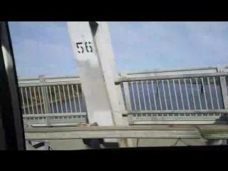 Driving along mid-hudson bridge