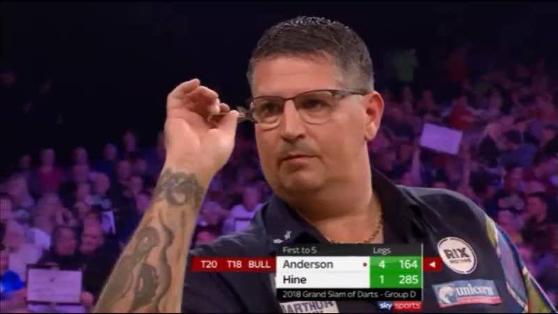 2018 Grand Slam of Darts Group D Anderson vs Hine