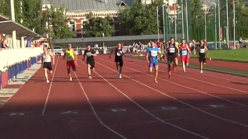 Финалы на 100 м. Ж.и М. на ЧР по ла среди ветеранов 3 - 5 августа 2018 г. в г. Москва.