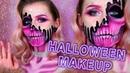 HALLOWEEN MAKEUP TUTORIAL🎃    Макияж на Хэллоуин    Pink Skull Розовый Череп