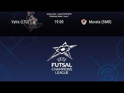 LIVE - Vytis (LTU) v Murata (SMR) - Preliminary round - Group F - Futsal Champions League