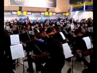 30.03.14 Симфонический оркестр в Харьковском аэропорту (ч.2)