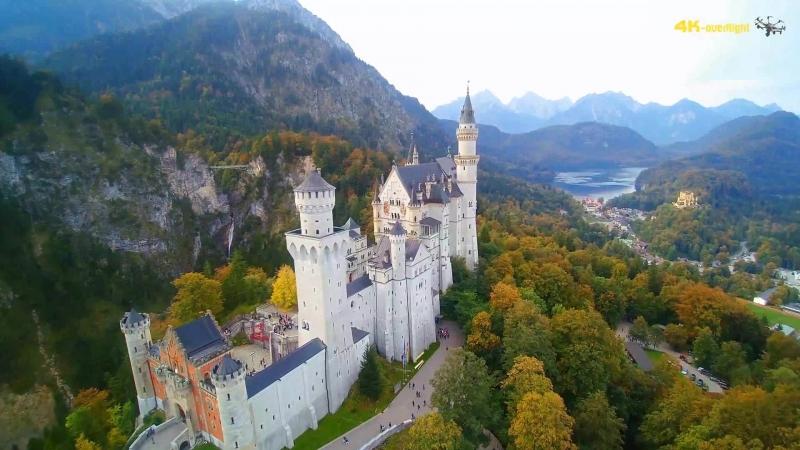 Neuschwanstein Castle 4K ⁄ Fairytale Castle in Bavaria ⁄ Schloss Neuschwanstein with a Drone