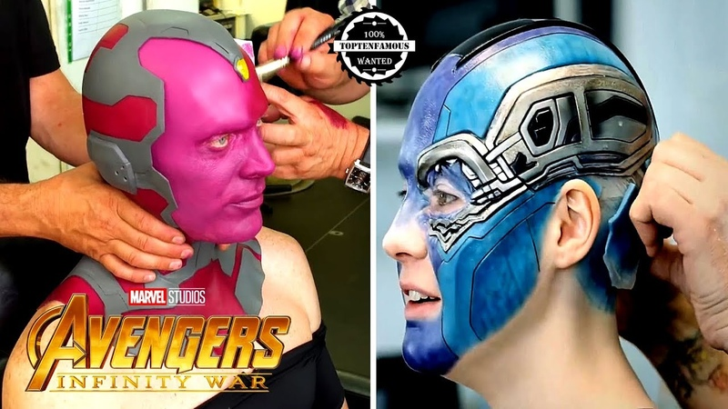 Avengers Infinity War Actor before and after MakeUp