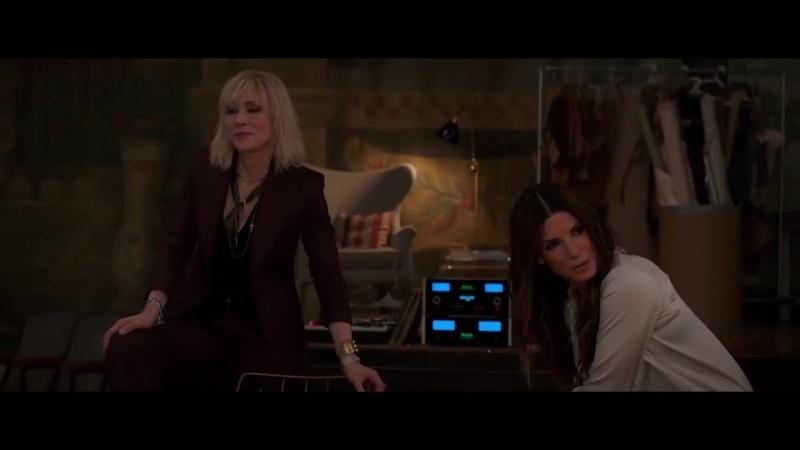 Интервью Сары Полсон, Кейт Бланшетт и Сандры в рамках промо фильма «Восемь подруг Оушена»