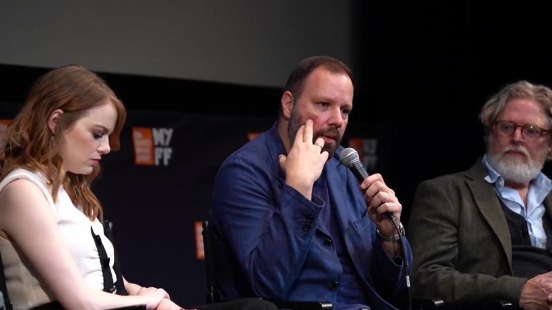 The Favourite Press Conference _ Yorgos Lanthimos Cast _ NYFF56