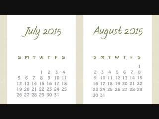 Вот почему в июле и августе 31 день, а в феврале 28