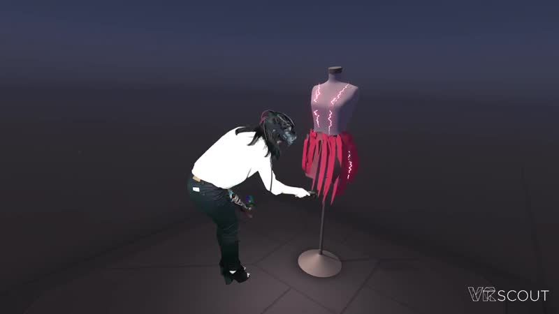 Tilt Brush Fashion Dress Form HTC Vive Mixed Reality