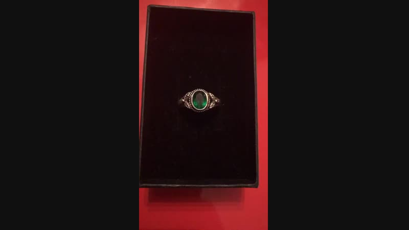 I want to share with you a very special 1820's era Silver and Emerald Ring. T
