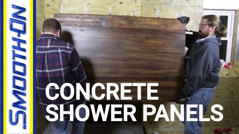 Casting GFRC Concrete to Create Textured Shower Panels