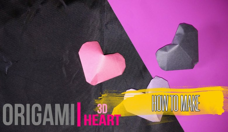 How to make Origami 3D Heart [DIY] by Brain Washer