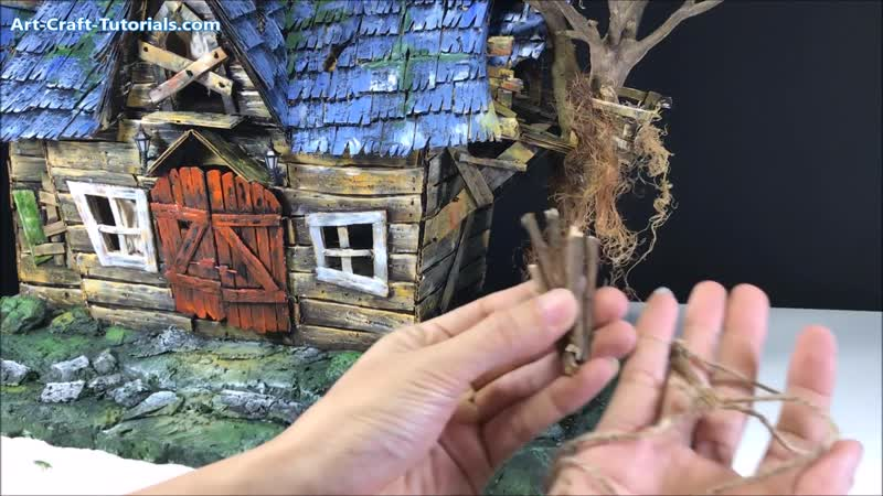 DIY A Witchs House Using Cardboard - Full Length Video