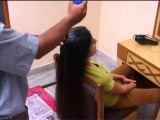 Long hair extreme oiling - Champi
