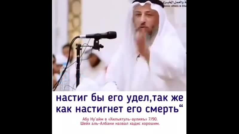 Шейх Усман аль Хамис - Тебе не убежать от твоего удела! @usmankhamys