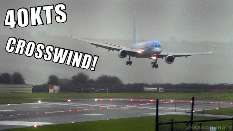 TUI Boeing 757 Comes into Land SIDEWAYS in 40 KNOT CROSSWIND at Bristol Airport During a STORM
