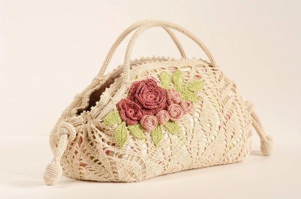 用餐巾的图案钩的包包 - maomao - 我随心动
