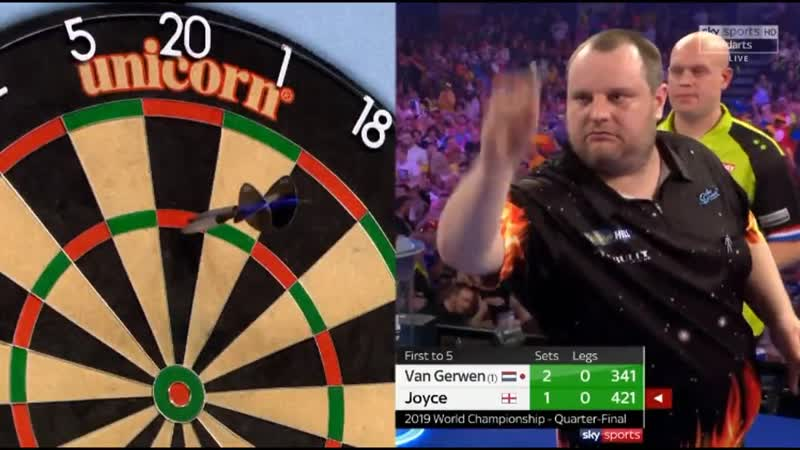2019 World Darts Championship Quarter Final van Gerwen vs Joyce