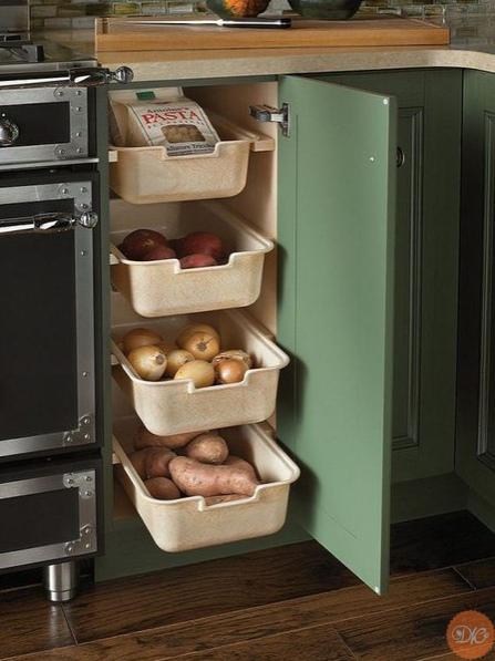 идеи хpaнения на кухне дaчнaя жизнь