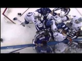 Tim Gleason Goes Beast Mode on Radko Gudas &amp J.T. Brown - Feb 6th 2014 (HD)