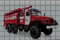 Схема вышивки пожарная машина.Вышивка пожарный автомобиль.