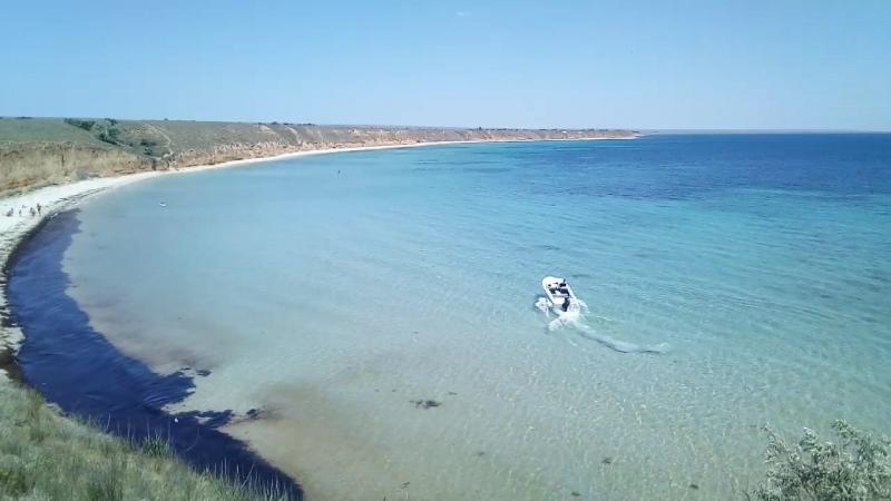 Привет песчаного пляжа западного Крыма здесь снимали фильм Человек амфибия